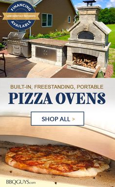 Outdoor Pizza Ovens Enjoy delicious pizza anytime in your outdoor space. Whether you're looking for wood-burning or gas pizza ovens, we offer a wide variety of built-in, freestanding, countertop and portable pizza ovens. Gas Pizza Oven, Pizza Oven Outdoor, Outdoor Kitchen Bars, Outdoor Kitchen Design, Outdoor Cooking, Outdoor Kitchens, Pizza Oven Accessories, Living Pool, Wood Fired Oven