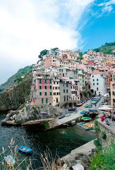 Riomaggiore, Cinque Terre Italy, amazing pesto there.