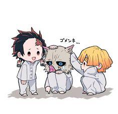 Kimetsu no Yaiba [Doujinshi] Otaku Anime, Anime Guys, Manga Anime, Anime Art, Demon Slayer, Slayer Anime, Anime Angel, Anime Demon, Fanarts Anime