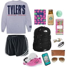"""""""Finals Week Prep"""" by martinjulia53 on Polyvore nike tempo shorts sneakers t-shirt"""