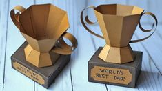 How To Make A 3D Paper Trophy for Father's Day Fathers Day Crafts | DI...