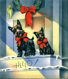 Vintage Holiday, scotty dogs...