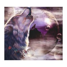 Incredible Wolf Song Wall Canvas Art