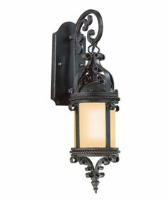 """too castle-y - Troy Lighting BF9121-D Pamplona Energy Smart 1 Light Outdoor Wall Light - 19"""" X 6"""" - $560"""