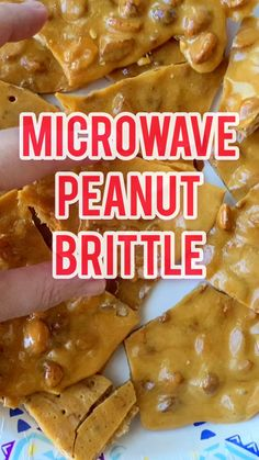 Microwave peanut brittle recipe is an easy sweet, salty and buttery peanut brittle that takes minutes to make. No- fuss, full proof method that requires no stove top candy thermometer! Vintage Christmas dessert that easily gifts and lasts for weeks! Christmas Snacks, Christmas Baking, Christmas Candy, Christmas Goodies, Homemade Peanut Brittle, Recipe For Peanut Brittle, Easy Microwave Peanut Brittle Recipe, Easy Microwave Desserts, Crockpot