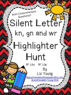 Go on a word hunt with this fun worksheet! Your kids highlight words with the given sound and then write the words that they find.Plus a reading comprehension page to go with the story. All Highlighter Hunts come with a comprehension page for each story. Letter Activities, Phonics Activities, Phonics Rules, Teaching Aids, Teaching Reading, Student Teaching, Reading Skills, Guided Reading, Teaching Tools