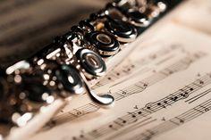 Querflöte und Noten
