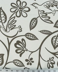 Lovebirds 948 Charcoal | Online Discount Drapery Fabrics and Upholstery Fabric Superstore!