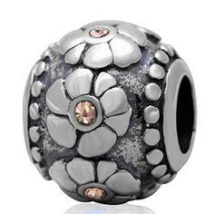 Everbling Bead Blume gelb Kristall 925Sterling Silber Passend für Pandora Charms - http://schmuckhaus.online/fit-pandora-style-charms/everbling-bead-blume-gelb-kristall-925-sterling