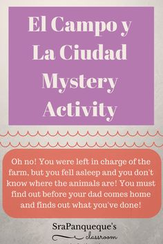 In this exciting mystery activity, students use their Spanish vocabulary words about the city (la ciudad), the farm (el campo), the zoo (el zoológico) and the amusement park (el parque de atracciones) to figure out a mystery! #Spanishlearning #langchat