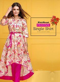 Gul Ahmed Single Eid Shirts 2016 2017 Collection 4