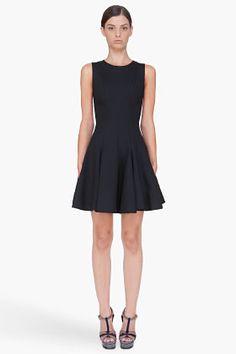Cushnie Et Ochs Black Pleat Skirt Jersey Dress for Women   SSENSE. Viscose/ea