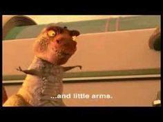 """""""I have a big head and little arms""""  Tiny the dino from Meet the Robinsons"""