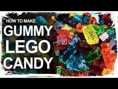 Zo maak je met eenvoudige ingrediënten snoep in de vorm van LEGO