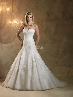 Wholesale Cheap A Line Wedding Dresses Sweetheart Lace Beaded Bridal Gowns ki1310 southern garden, Free shipping, $152.32-169.12/Piece | DHgate