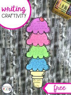Ice Cream Writing Craftivity - Playdough To Plato