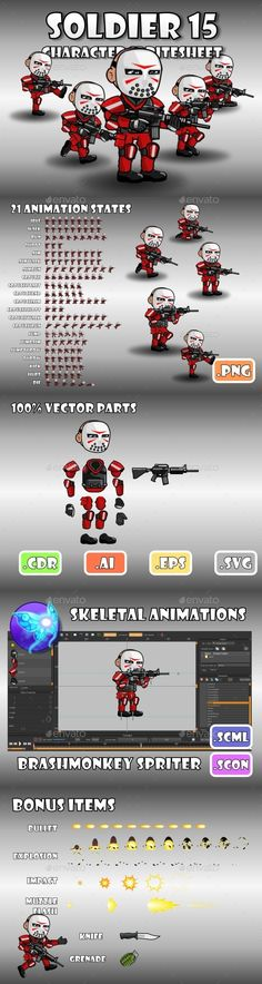 Soldier Character 15 (Sprites)