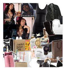 """""""-Ayana"""" by unkn0wn-gods ❤ liked on Polyvore featuring American Apparel, H&M, Furla, beautyblender, Puma, Organix, Anastasia, Chanel, Nixon and Urban Decay"""