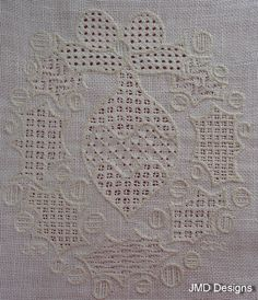 JMD Designs Home - Janet M. Davies - New Zealand - Free Pulled Thread Tutorial - Needlework, Quilting and Applique