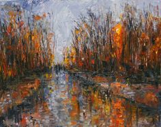 Impressionism | Daily Painters Abstract Gallery: Impressionism Landscape, Rainy Street ...