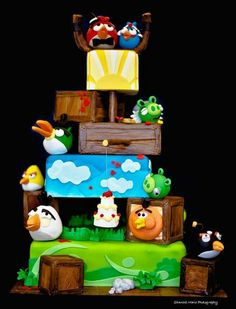 Angry Birds Wedding Cake  Cake by Over The Top Cakes Designer Bakeshop