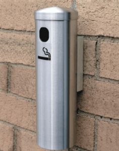 looking for a stylish sleek and durable solution for cigarette disposal look no further this 12 smoker post ash wall mount satin aluminum receptacle is