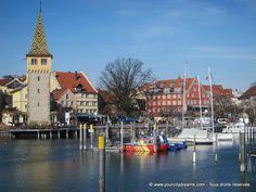 Lac de Constance, Bavière: Le port de Lindau à la frontière entre l'Allemagne et l'Autriche. Découvrez les plus beaux lacs de Bavière: https://www.yourcitydreams.com/voyage-en-baviere/lacs/ - Hafen von Lindau in Bayern.