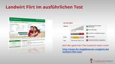 http://www.ihr-singleboersen-vergleich.de/landwirt-flirt-test/ Landwirt Flirt - Singles, Landliebe und Flirtspaß? Über 21.000 Landwirte und Singles vom Lande suchen hier einen Partner. Mehr dazu im ausführlichen Testbericht.