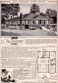 CURB APPEAL – another great example of beautiful design. 1923 Sears Modern Homes - Avondale