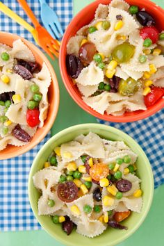 Summer Succotash Pasta Salad on Weelicious