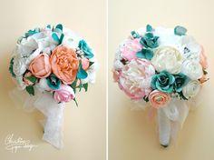 Paper flowers alternative bridal bouquet