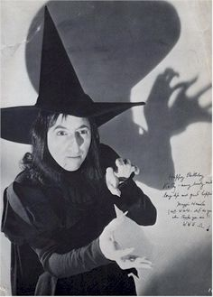 """THE WITCH FROM OZ""  Margaret Hamilton"