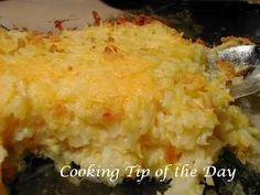 Cooking Tip of the Day: Recipe: Hash Brown Casserole
