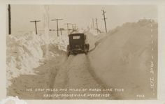 Driving conditions were a little rough in Dodgeville in 1929.