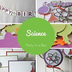 Scientist Party Decorations, Chemistry Party in a Box