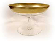 Vintage Compote Clear Glass Footed Comport by ToadSuckTreasures