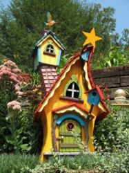 I know we're getting close to Dr. Seuss now!  whimsical fairy garden near helen ga