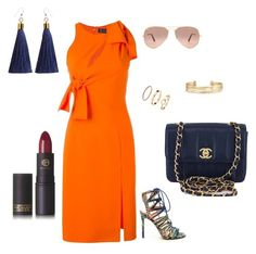 """Untitled #6"" by ben-stace on Polyvore featuring Versace, Stella & Dot, Lipstick Queen, Ray-Ban and Chanel"