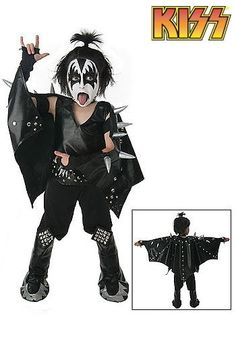 Kids Demon KISS Costume $20