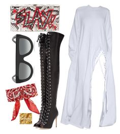 """Untitled #1101"" by thestylewalker ❤ liked on Polyvore featuring CÉLINE, Elisabeth Weinstock, DANNIJO and Gianvito Rossi"