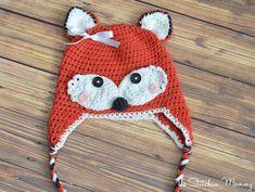 free crochet hat pattern. This crochet fox hat has a great pattern to follow.