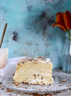 almond cream crepe c Baking Recipes, Cake Recipes, Dessert Recipes, Rib Recipes, Roast Recipes, Fudge Recipes, Pudding Recipes, Cream Recipes, Shrimp Recipes