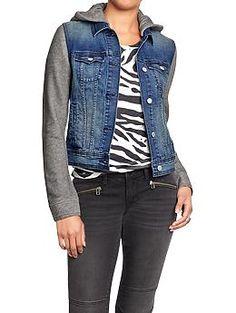 Women's | Women's | Twofer Hoodie Denim Jacket | Hudson's Bay ...