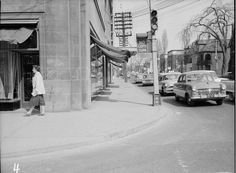 Avenue Road & Bloor looking north 1959 Hidden Art, Canadian Things, Toronto City, Ontario, Past, 1950s, Photos, Pictures, Street View