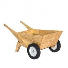 Kid's Wooden Wheelbarrow allows children to do real work for a real purpose! From Bella Luna Toys.