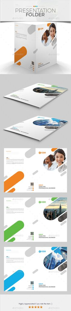 #Presentation Folder 01 - #Stationery Print Templates Download here: https://graphicriver.net/item/presentation-folder-01/20227961?ref=alena994