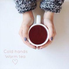 Cold hands, warm tea  #clickserendipity Melina Souza - Serendipity  <3