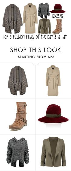 """Top 5 Fashion Finds of the Day & a Hat"" by maggie-johnston ❤ liked on Polyvore featuring River Island, Carlos by Carlos Santana, Lola, Taylor and Boohoo"