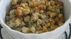 Yummy Thanksgiving Stuffing using Jimmy John's Day Old Bread