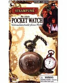 Steampunk pocket watch (Package Of 6) Half Case by Forum Novelties Inc.. $50.61. great bedroom gift. Great to stock your shelfs. 6 Pack. You'll need the time in your steam powered world and this Steampunk Pocket Watch from Forum Novelties is your answer. Crafted in the mechanical steampunk tradition this pocket watch is designed in a vintage bronze color with engraving throughout the piece. The Victorian-inspired cover opens to reveal a white clock face. The po...